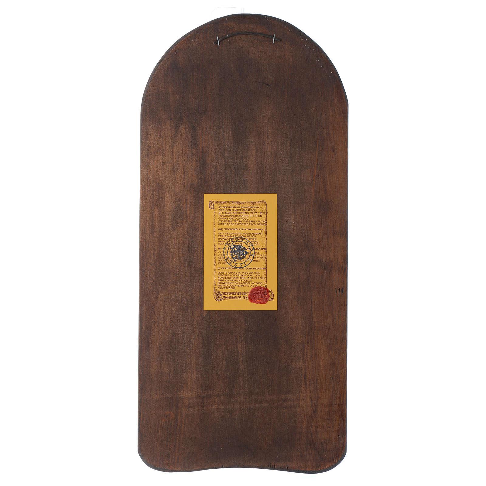 Ícone em baixo-relevo Mãe de Deus Odighitria 45x20 cm 4
