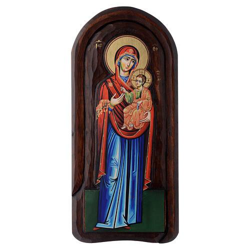 Ícone em baixo-relevo Mãe de Deus Odighitria 45x20 cm 1