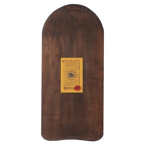 Ícone em baixo-relevo Mãe de Deus Odighitria 45x20 cm 3