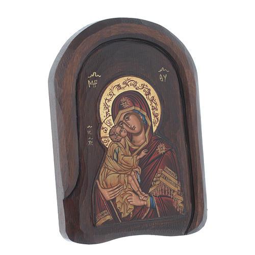 Icona a bassorilievo serigrafata con Vergine Vladimir 25x15 cm 2