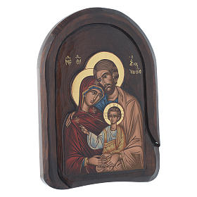 Holy Family icon in wood, low relief 30x20 cm s2
