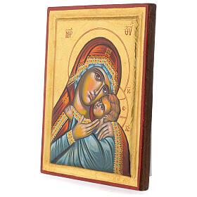 Icona greca dipinta Vergine Glikofilussa 30x20 cm s3