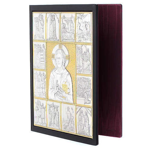 Leather slipcase for Lectionary with Christ Pantocrator 3