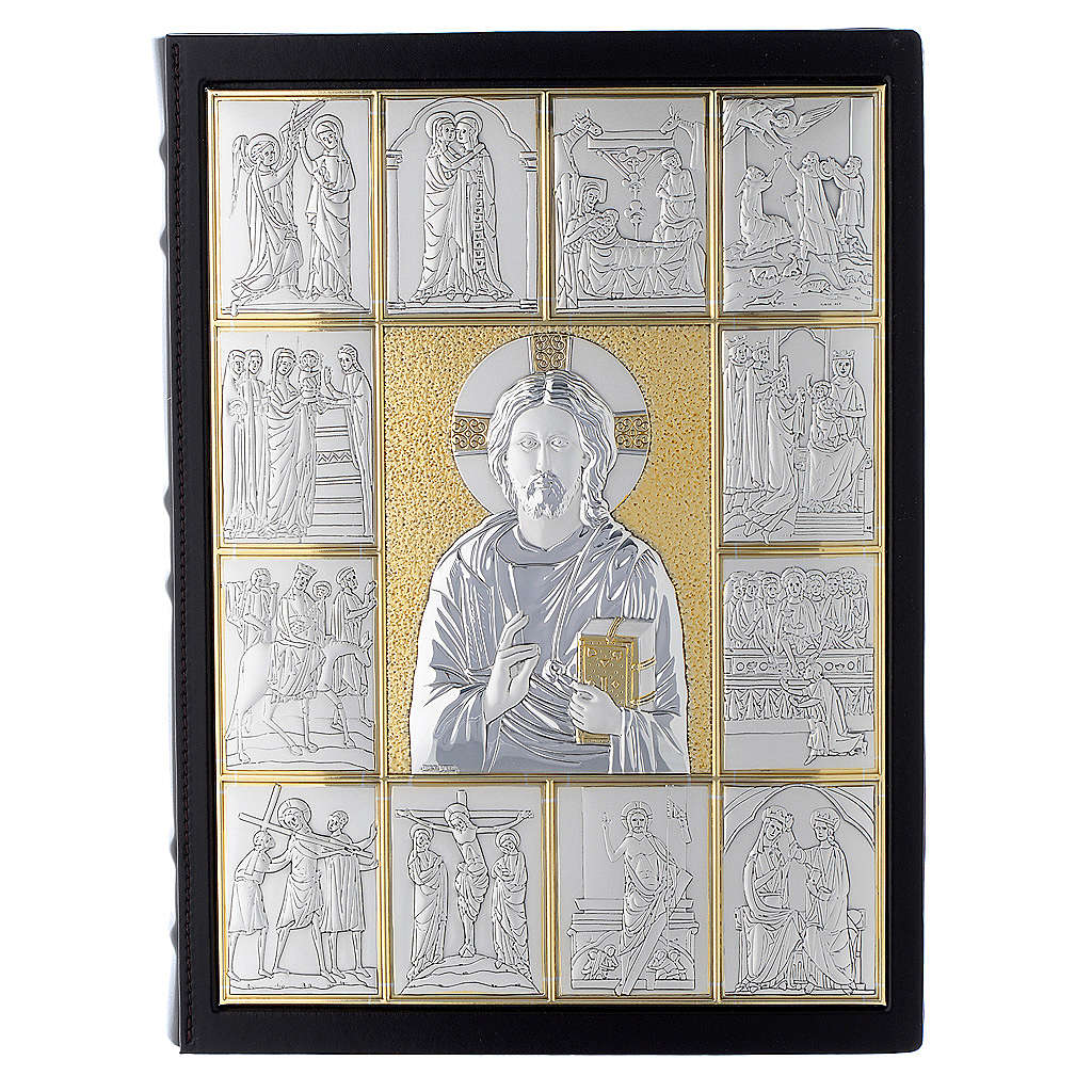 Couverture lectionnaire, cuir, Jésus Pantocrator 4