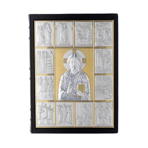 Couverture lectionnaire, cuir, Jésus Pantocrator 1