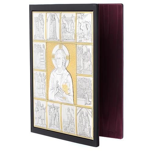 Couverture lectionnaire, cuir, Jésus Pantocrator 3