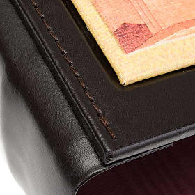 Leather Lectionary case with Jesus s3