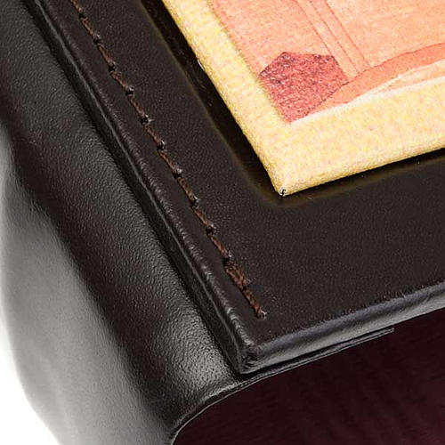 Leather Lectionary case with Jesus 3
