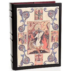 Lectionary cover in leather with Resurrection decoration s1