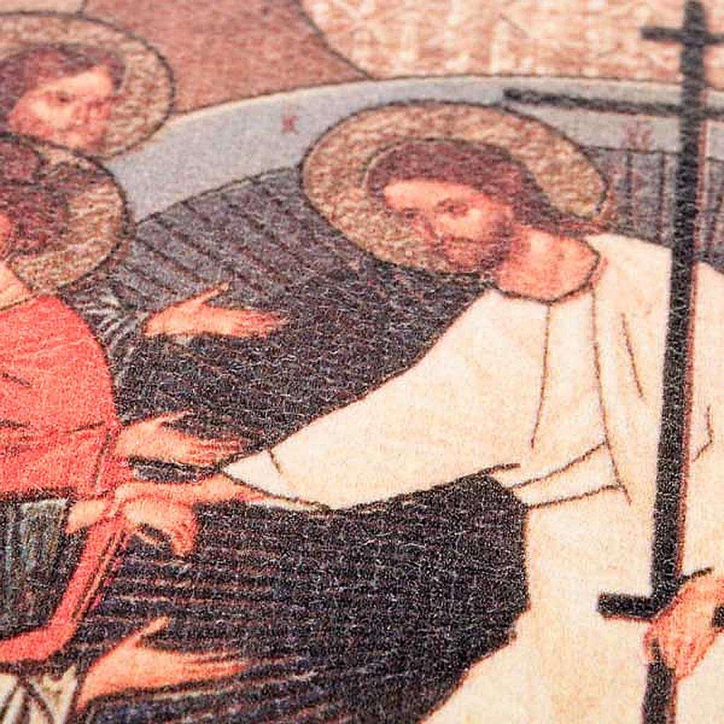 Copri lezionario cuoio tela Resurrezione 4