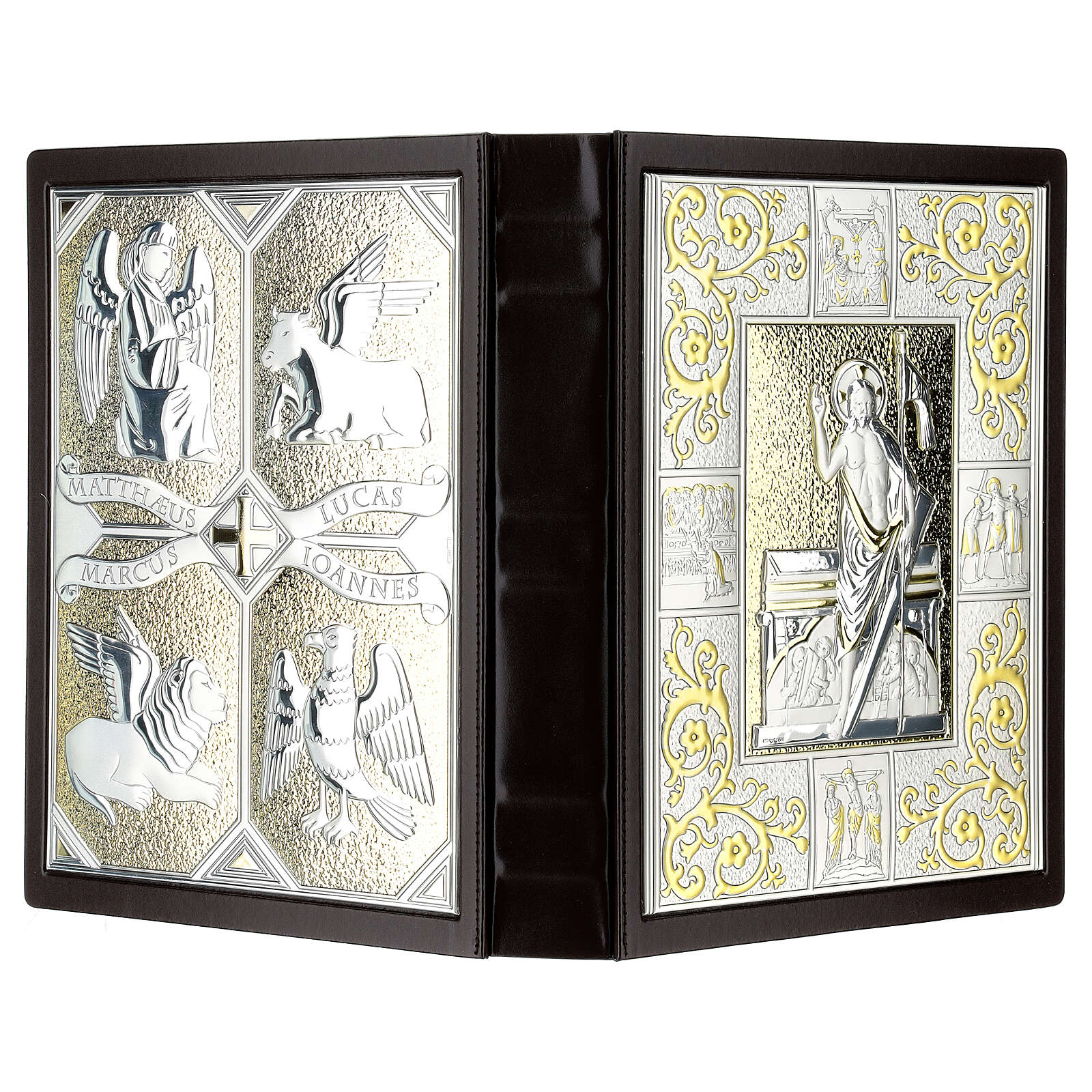 Lectionary cover in Leather with double plaque 4