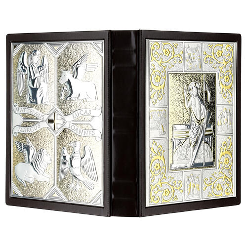 Lectionary cover in Leather with double plaque 6