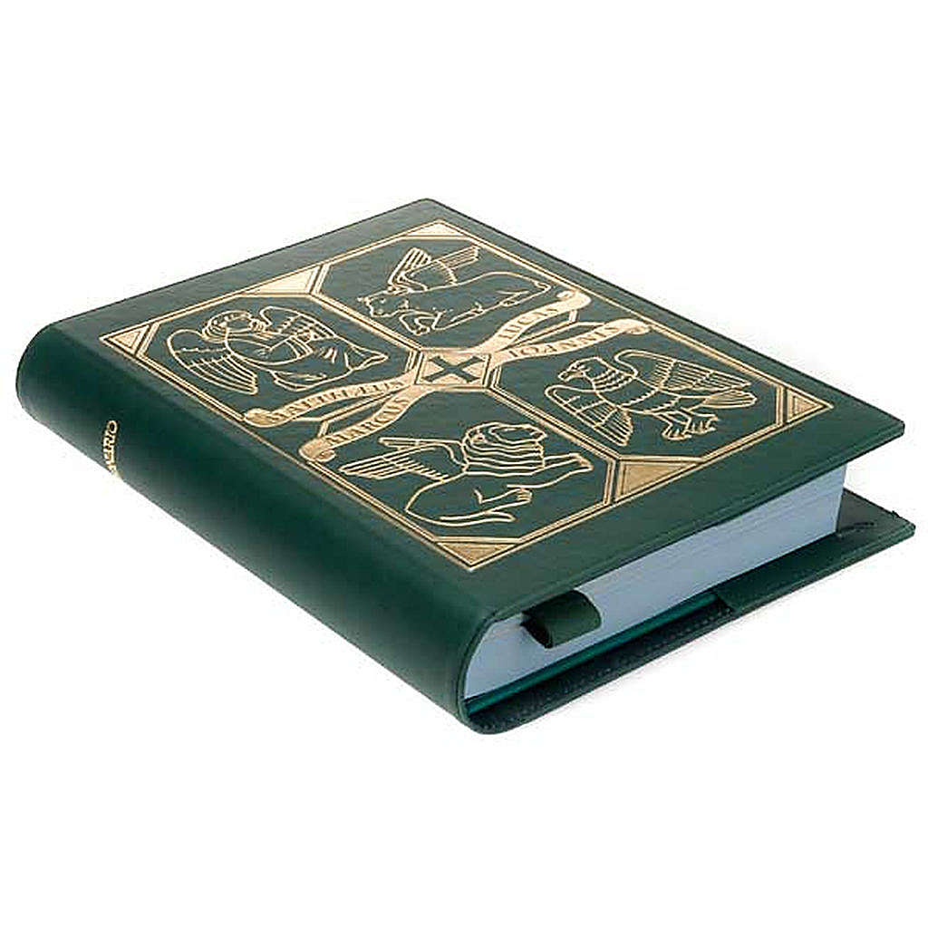 Leather slipcase for Lectionary with evangtelists symbols 4