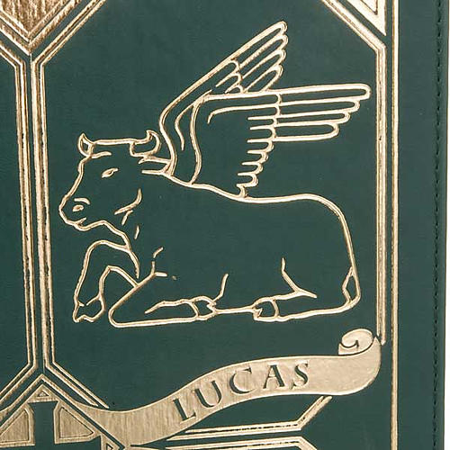 Leather slipcase for Lectionary with evangtelists symbols 3