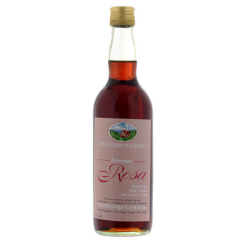 Sirop, infusion, pétales de rose. Abbaye Finalpia 700 ML 1