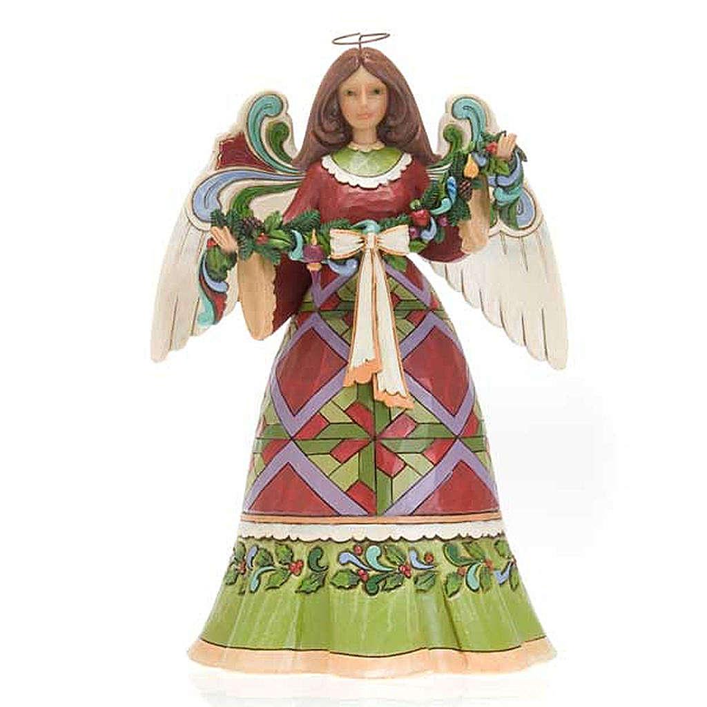 Christmas Angel holding Garland - Jim Shore 4