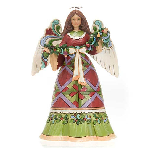 Christmas Angel holding Garland - Jim Shore 1