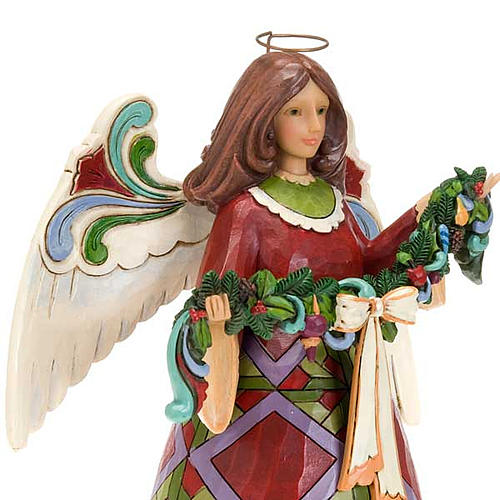 Christmas Angel holding Garland - Jim Shore 2