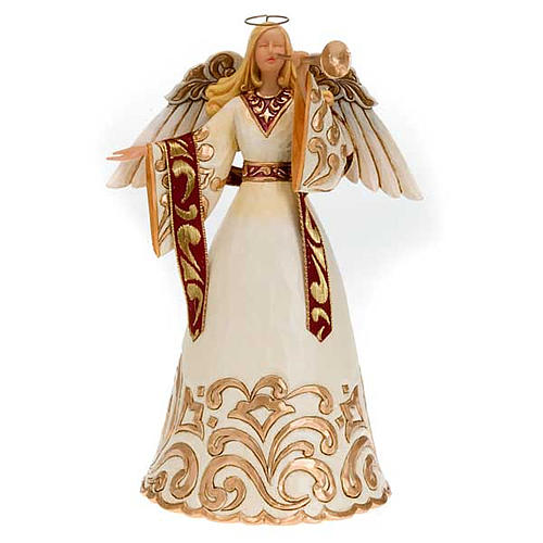 Ángel con trompeta (Ivory and Gold Angel) 1