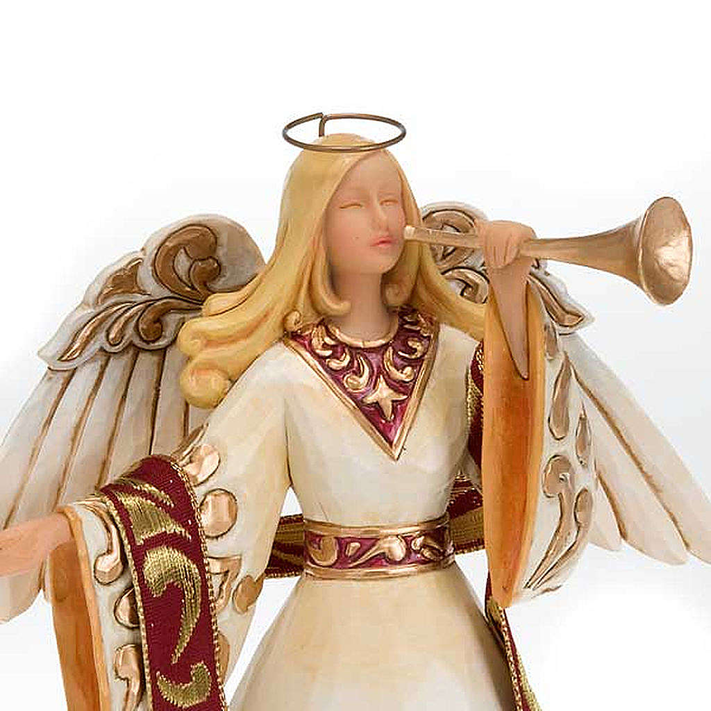 Ivory and Gold Angel, ange avec trompette 4