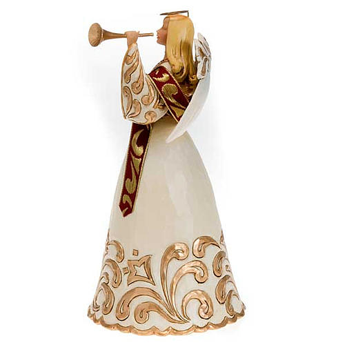 Ivory and Gold Angel, ange avec trompette 3