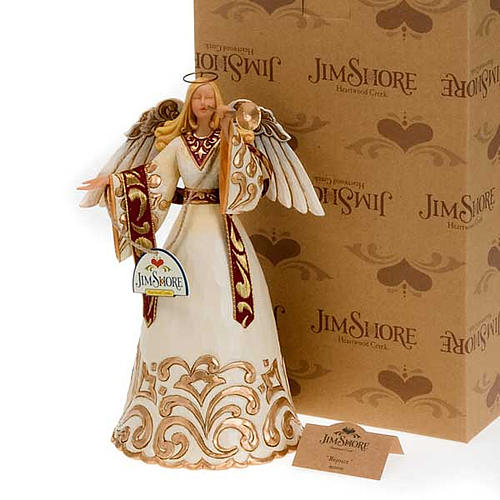 Ivory and Gold Angel, ange avec trompette 5