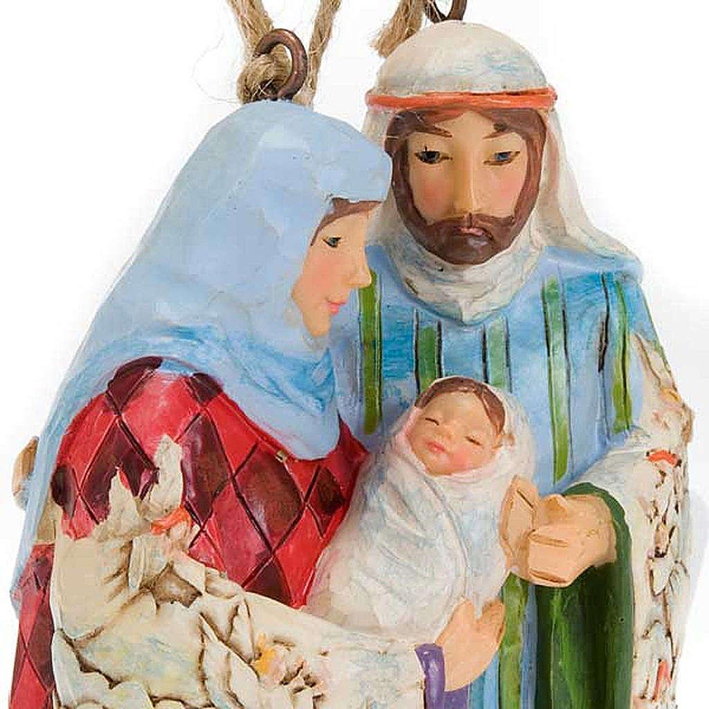 Holy Family hanging decoration - Jim Shore 4