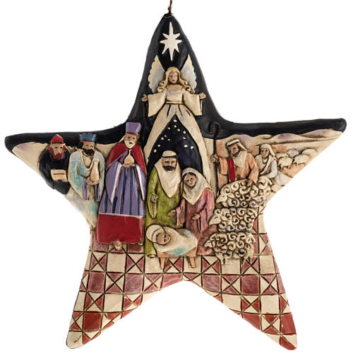 Nativity Star Hanging Ornament by Jim Shore 1