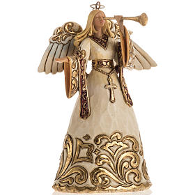 Ángel con la trompeta de Jim Shore (Ivory and Gold Angel) s1