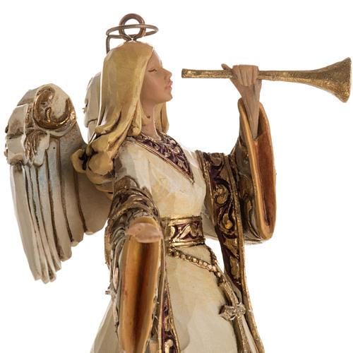 Ángel con la trompeta de Jim Shore (Ivory and Gold Angel) 2