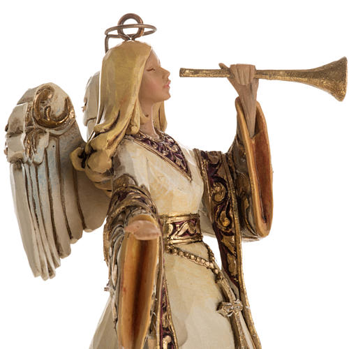 Ivory and Gold colour Angel Hanging Ornament by Jim Shore 2