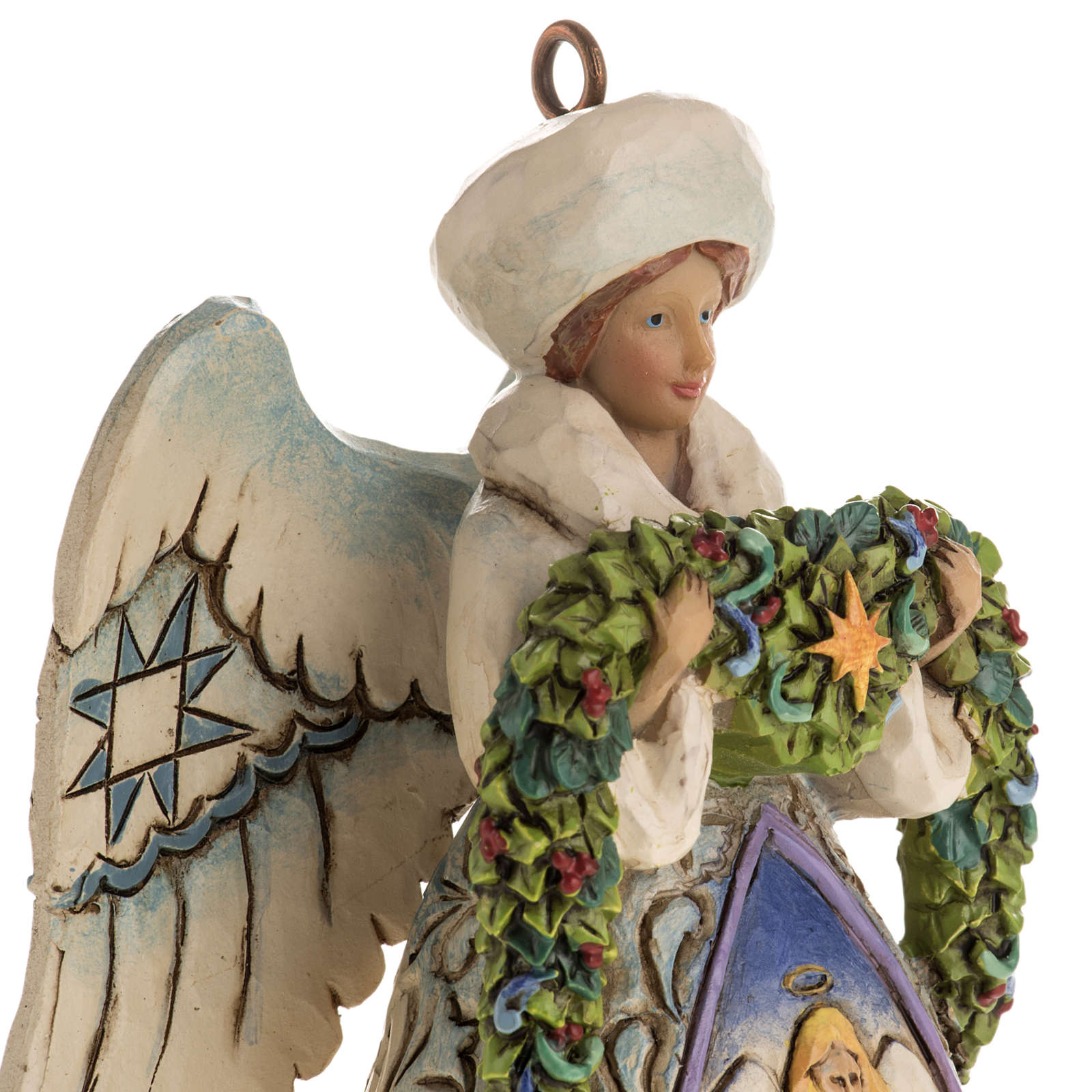 Ángel de Navidad de Jim Shore (Winter Angel Nativity) 4