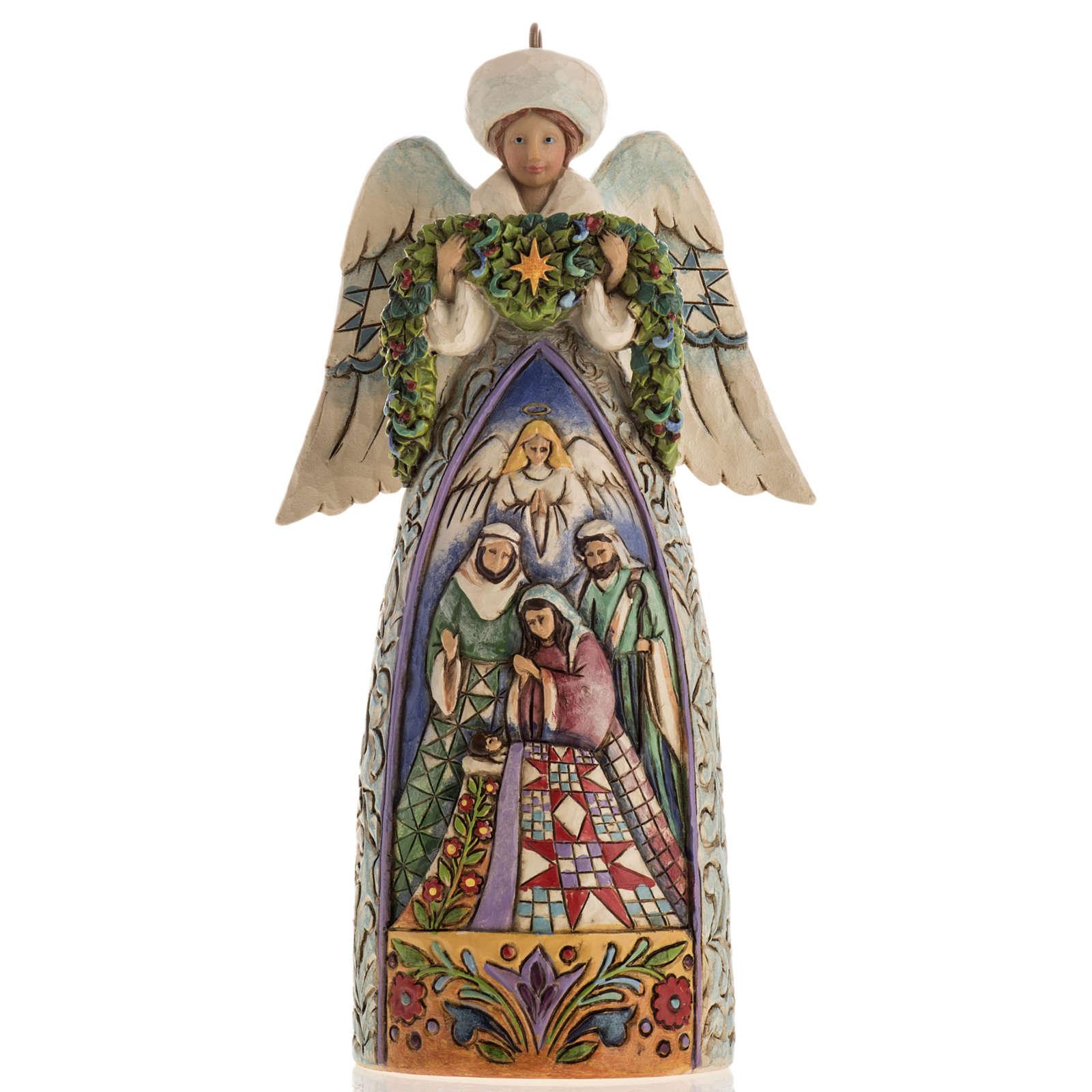 Ange du Noel Jim Shore - Winter angel Nativity 4