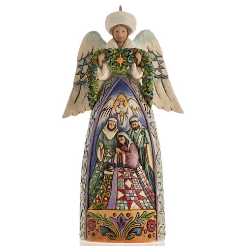 Ange du Noel Jim Shore - Winter angel Nativity 1