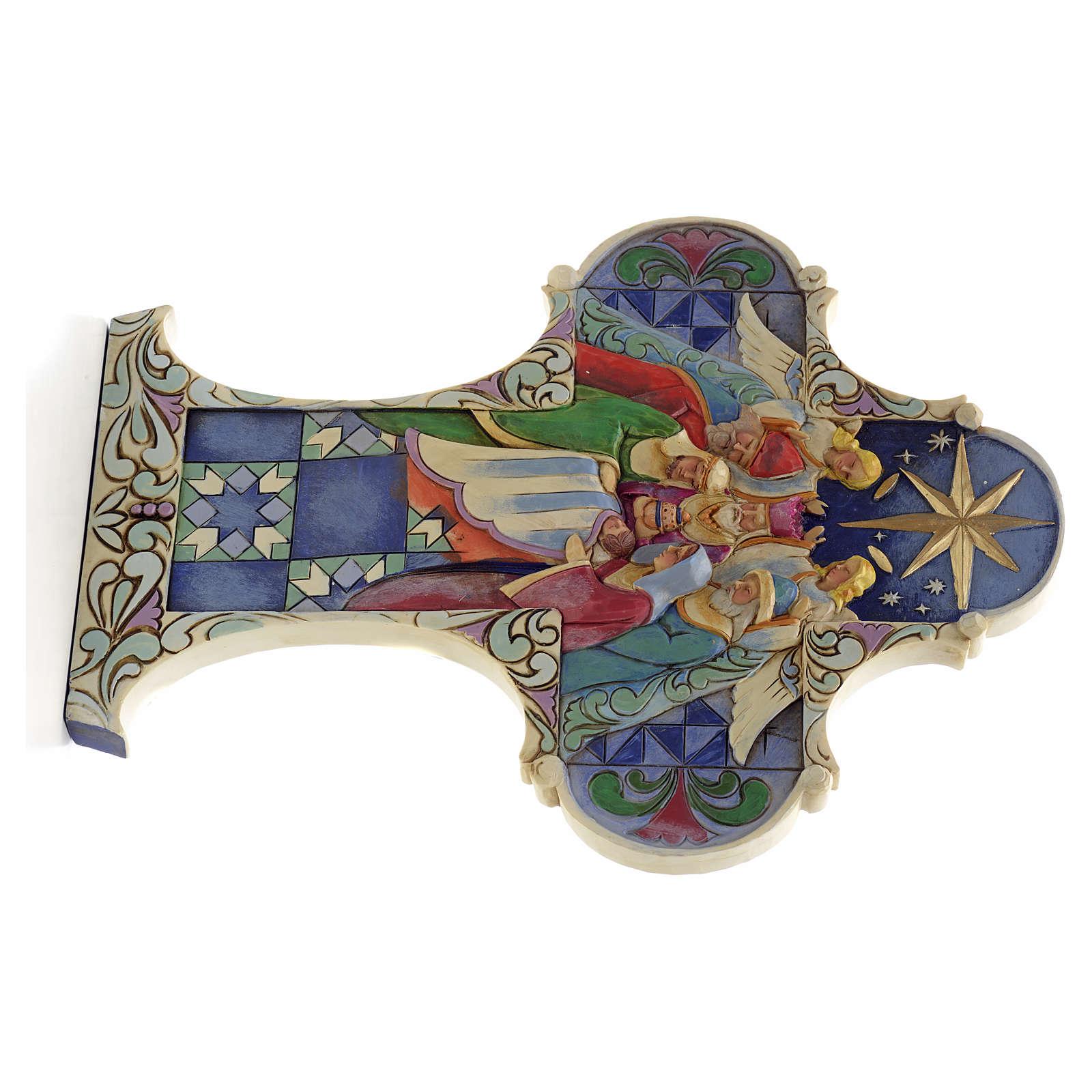 Croix de Noel Sainte Famille Jim Shore - Nativity cross 4