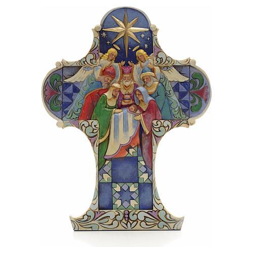 Croix de Noel Sainte Famille Jim Shore - Nativity cross 1