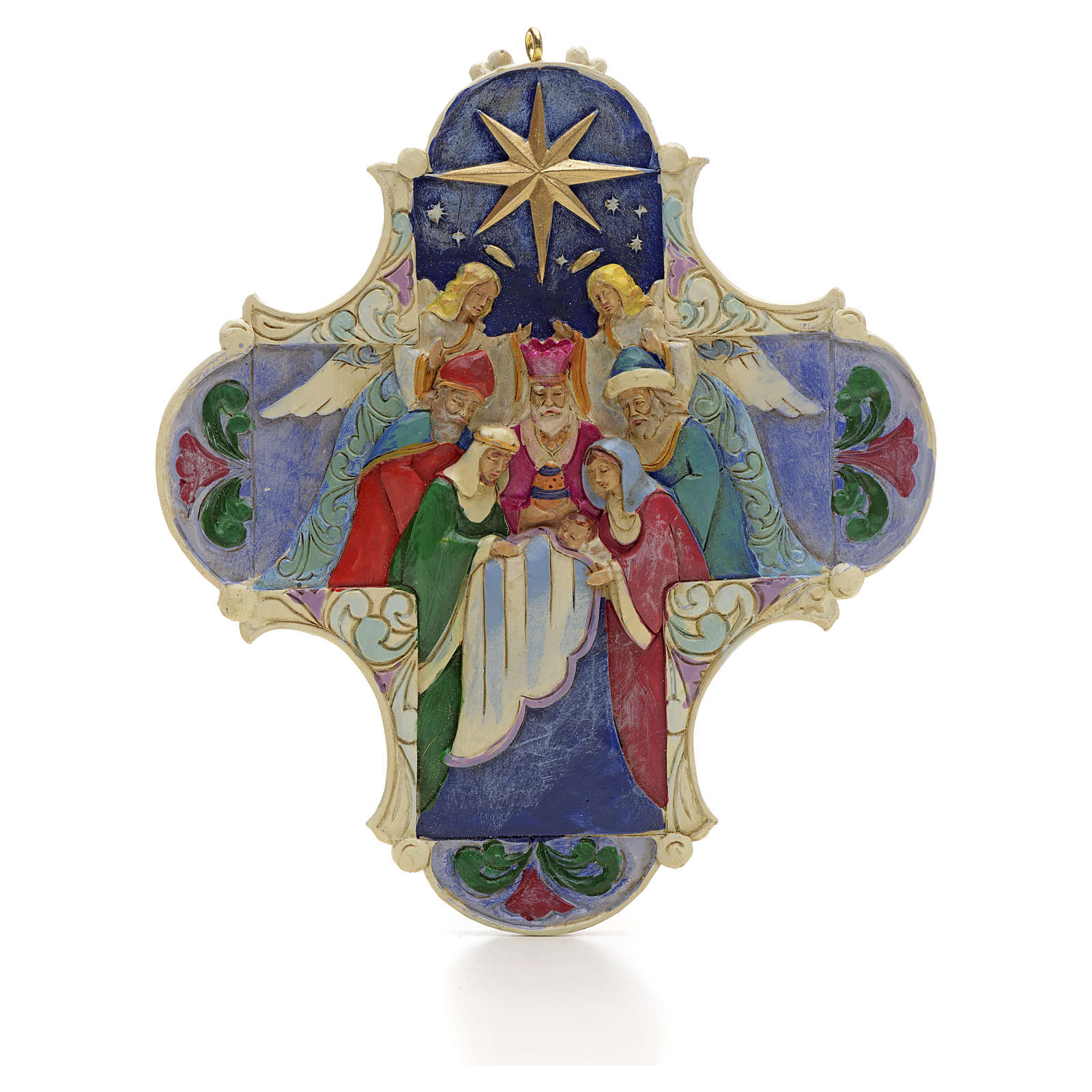 Nativity Cross Hanging Ornament by Jim Shore 4