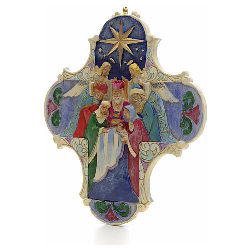 Nativity Cross Hanging Ornament by Jim Shore 2