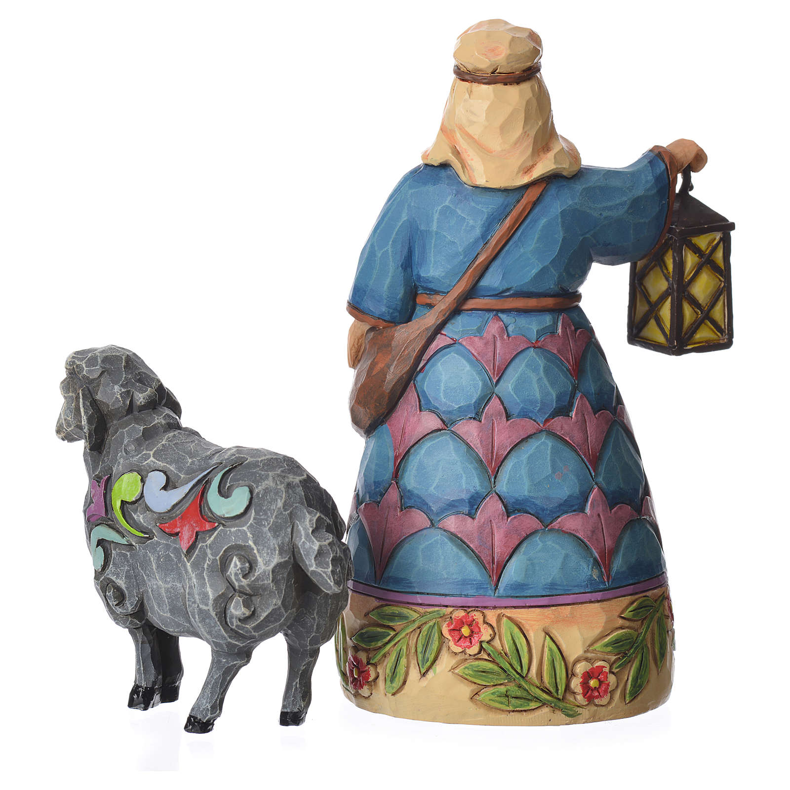 Jim Shore - Mini Nativity Shepherd (Pastore con pecora) 10cm 4