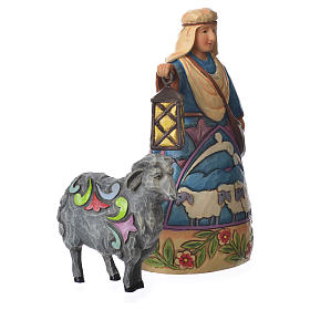 Jim Shore - Mini Nativity Shepherd (Pastore con pecora) 10cm s2