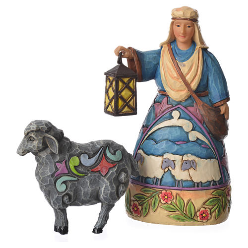 Jim Shore - Mini Nativity Shepherd (Pastore con pecora) 10cm 1