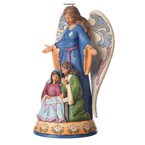 Jim Shore - Angel with Holy Family (ange avec Sainte Famille) 23x16cm 2