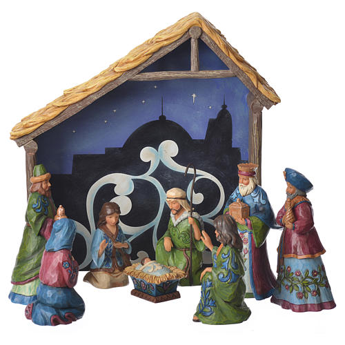 Jim Shore - Pint Nativity Set 13cm figurines, 9 pcs 1