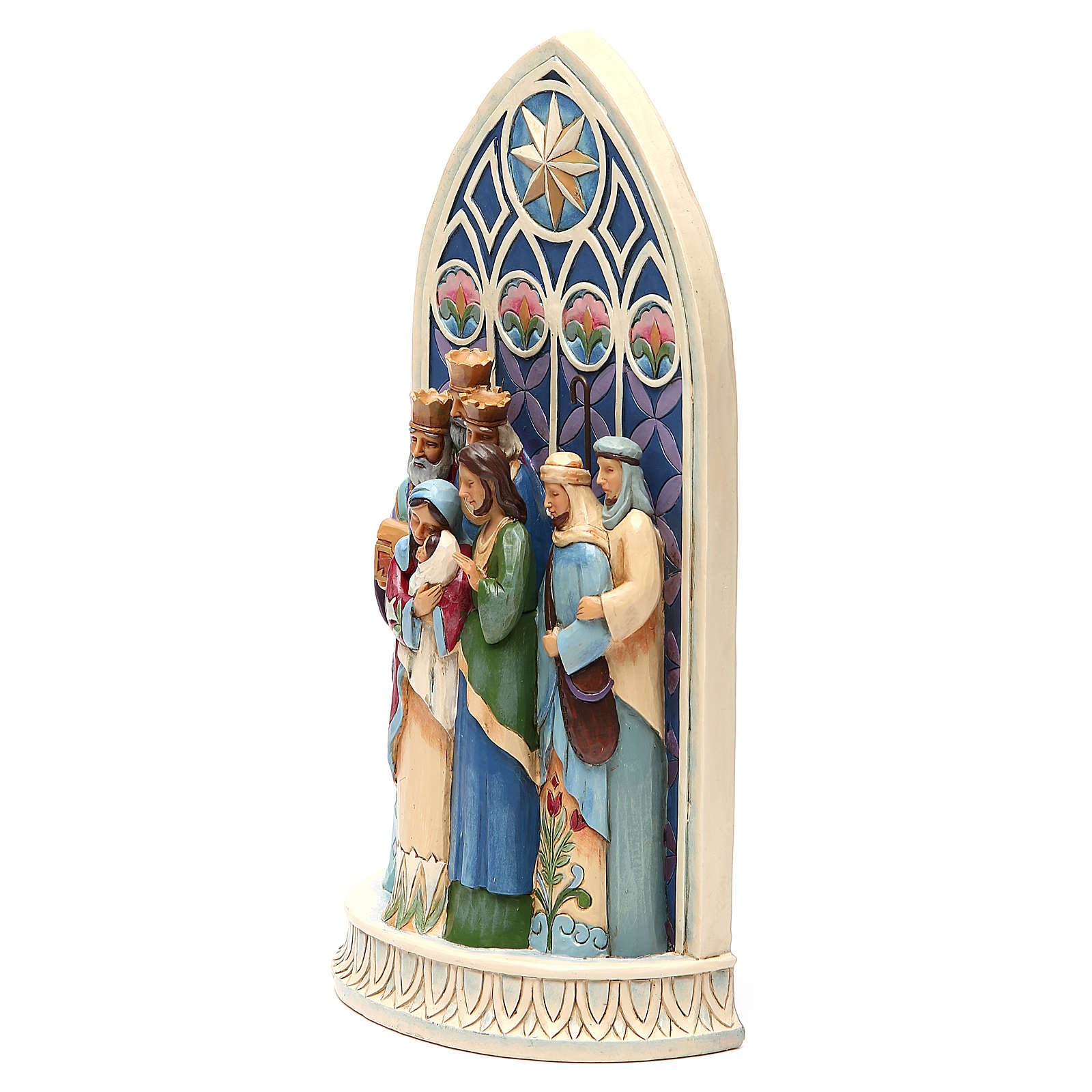 Jim Shore - Holy Family by Cathedral Window (Sacra Famiglia) 4