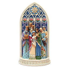 Jim Shore - Holy Family by Cathedral Window (Sacra Famiglia) s1