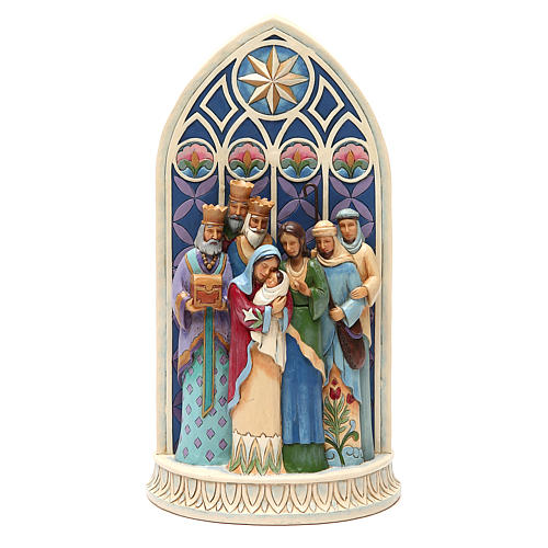 Jim Shore - Holy Family by Cathedral Window (Sacra Famiglia) 1