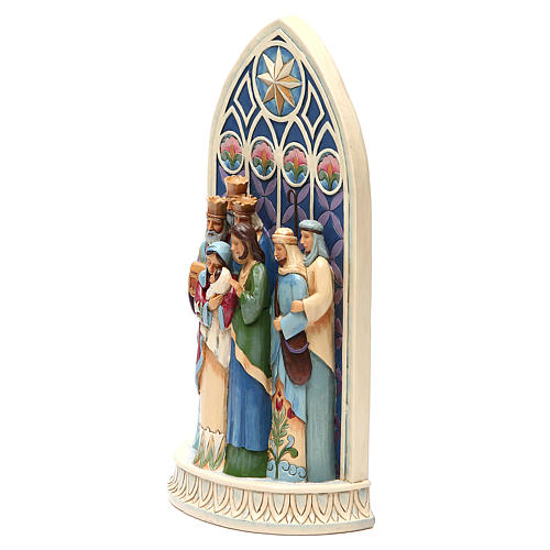 Jim Shore - Holy Family by Cathedral Window (Sacra Famiglia) 2