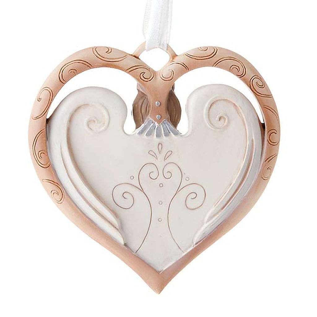Angel ornament heart shaped Legacy of Love 4