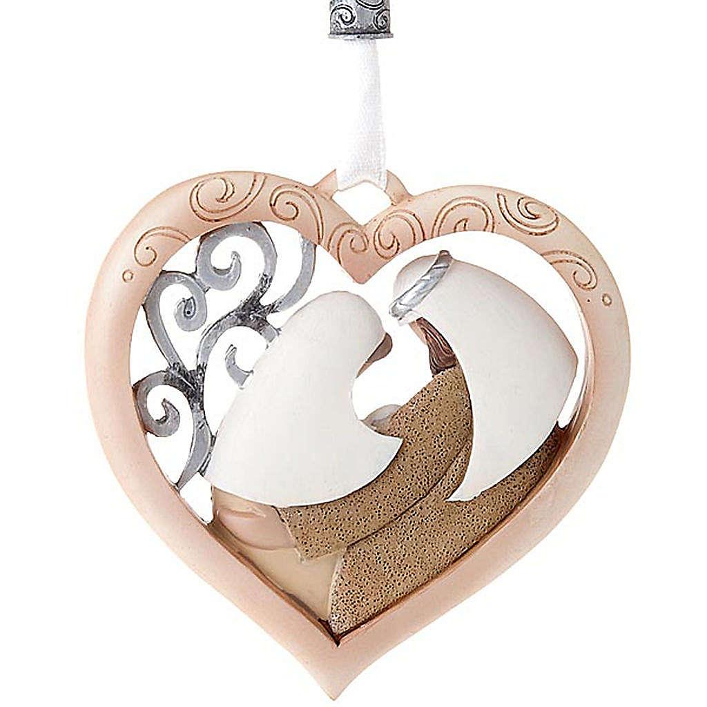 Nativity ornament heart shaped Legacy of Love 4