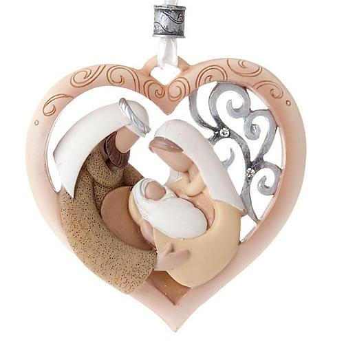 Nativity ornament heart shaped Legacy of Love 1